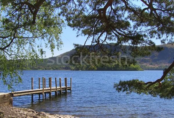 Eau vue lake district Angleterre arbres cadre Photo stock © peterguess