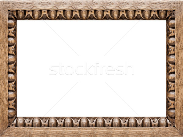 Carved Oak Picture Frame 4:3 Stock photo © peterguess