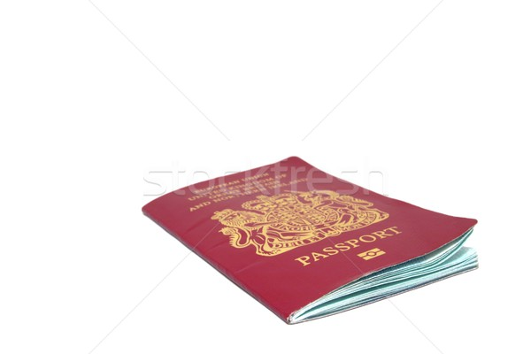 パスポート 英国の 孤立した 白 ビジネス 国 ストックフォト © peterguess