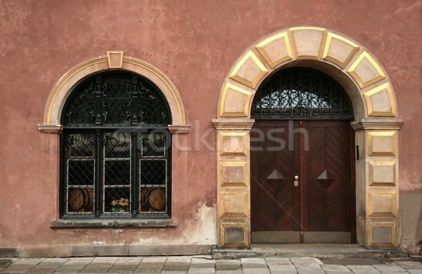 古い ドア ウィンドウ ストックフォト © peterguess