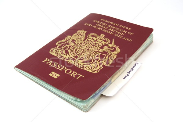 Passport With Boarding Card Stock photo © peterguess