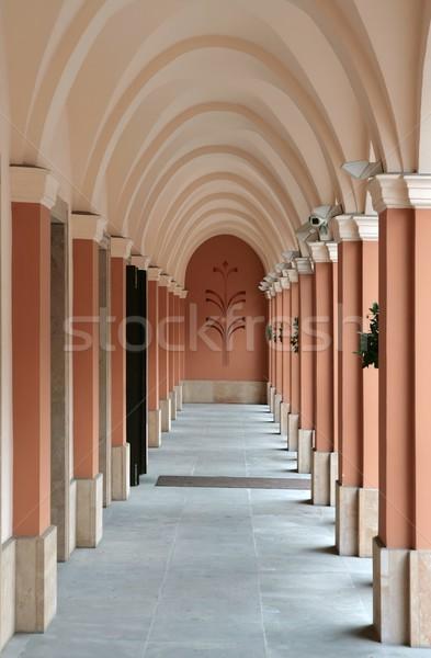 Varsovie Pologne pierre architecture trottoir Photo stock © peterguess