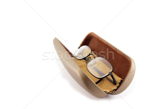 Spectacles In Case With Chamois Leather Stock photo © peterguess