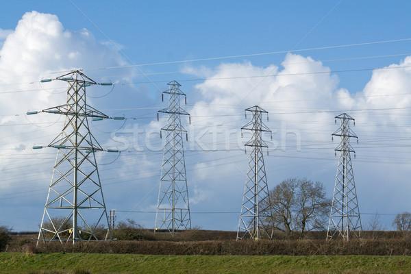 électricité élevé détaillée image ciel Photo stock © peterguess