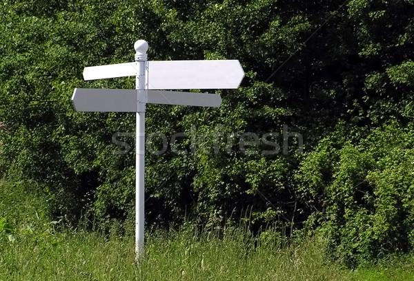 Panneau sur signe post Photo stock © peterguess
