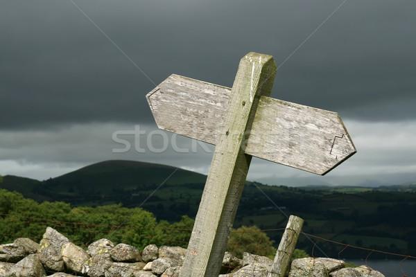 Post pays tempête lumière signe Photo stock © peterguess