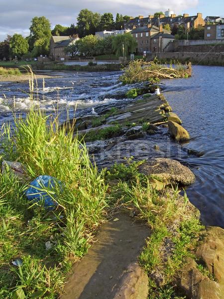 river Weir 1 Stock photo © peterguess
