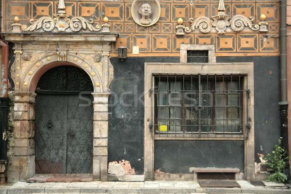Vieux porte fenêtre texture Photo stock © peterguess