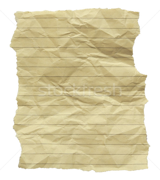 Crumpled And Torn Note Paper Stock photo © peterguess