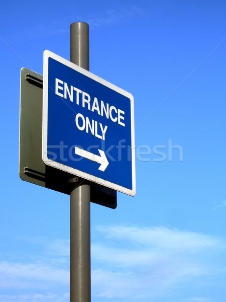 Entrée signe façon Photo stock © peterguess