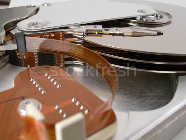 Disque dur détail à l'intérieur ordinateur disque unité Photo stock © peterguess