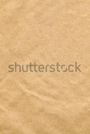 Brun papier rêche côté élevé Photo stock © peterguess