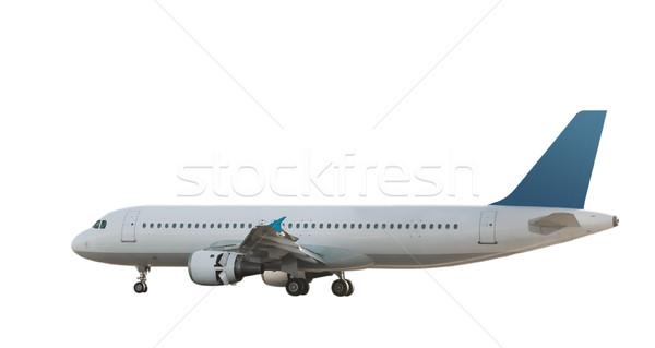 Isolé jet avion blanche bleu Photo stock © peterguess