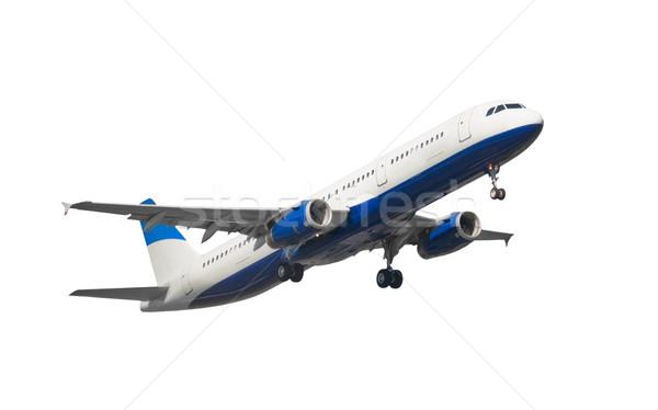 Isolé jet avion blanche ciel bleu Photo stock © peterguess