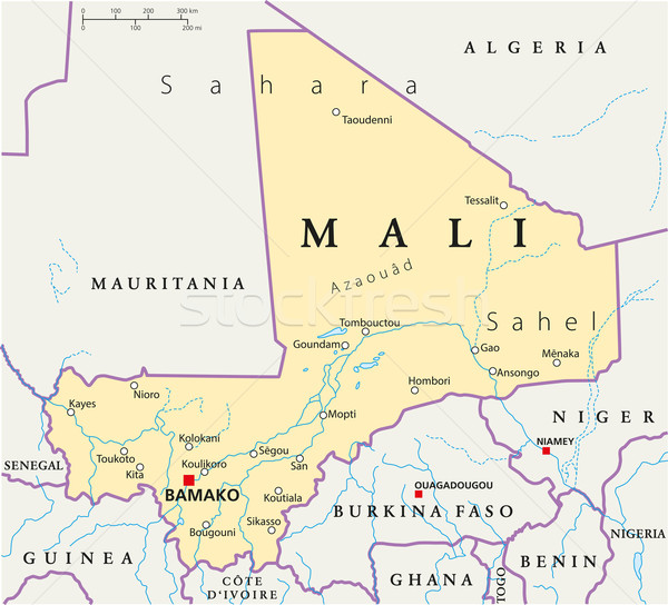 Mali Political Map Stock photo © PeterHermesFurian