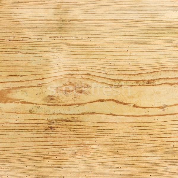 Old Spruce Wood Board With Wormholes Stock photo © PeterHermesFurian