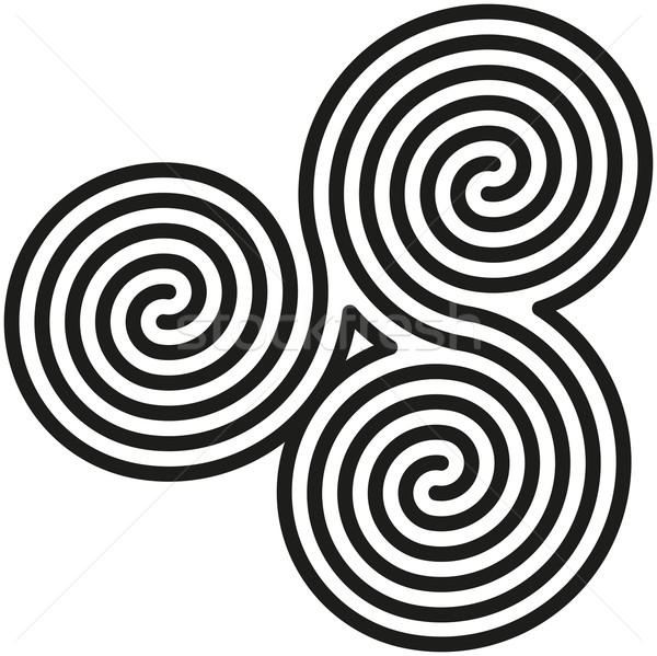Celtic Double Spirals Labyrinth Stock photo © PeterHermesFurian