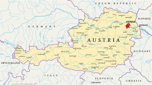 Austria Political Map Stock photo © PeterHermesFurian