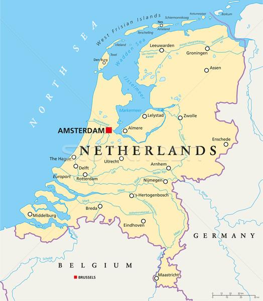 Netherlands Political Map Stock photo © PeterHermesFurian