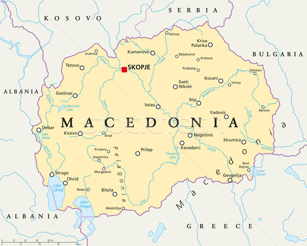 Macédoine politique carte importante villes Photo stock © PeterHermesFurian