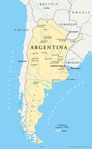 Argentina Political Map vector illustration Peter Hermes Furian