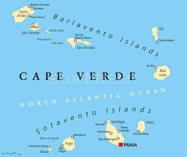 Cape Verde Political Map Stock photo © PeterHermesFurian