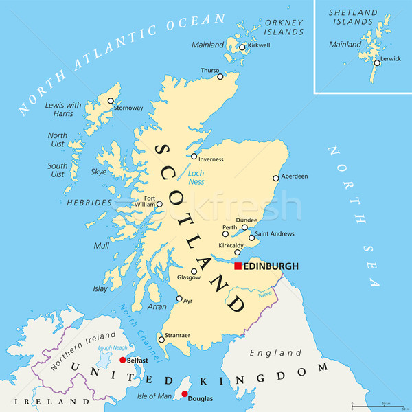 Independent Scotland Political Map Stock photo © PeterHermesFurian