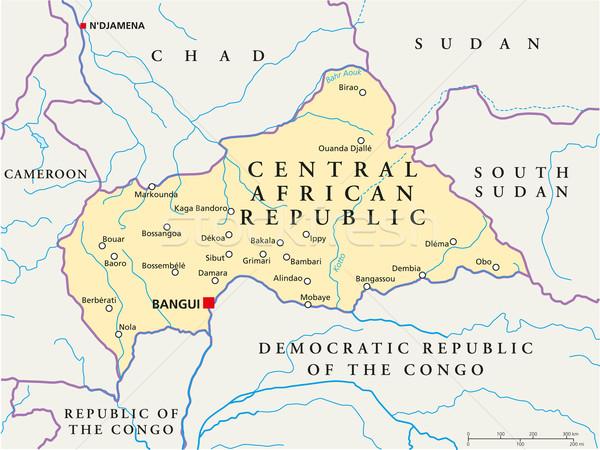 Central African Republic Political Map Stock photo © PeterHermesFurian