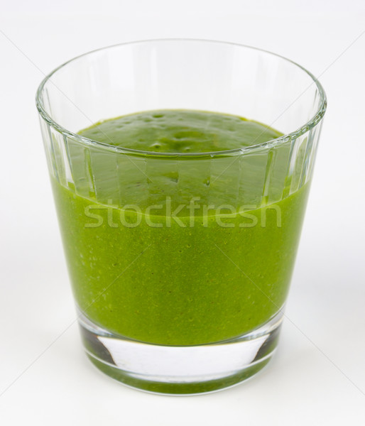 Smoothie vert verre organique épinards fruits brut Photo stock © PeterHermesFurian