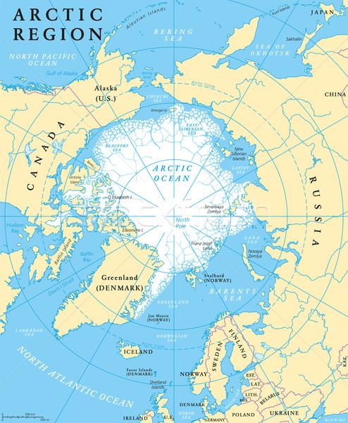 Арктика регион карта Реки Сток-фото © PeterHermesFurian