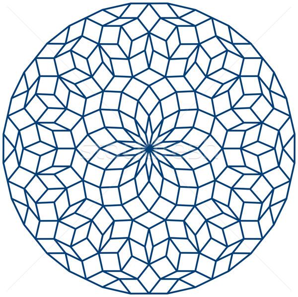 パターン 生成された セット 青 星 ストックフォト © PeterHermesFurian