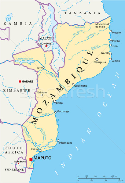 Мозамбик политический карта важный Сток-фото © PeterHermesFurian