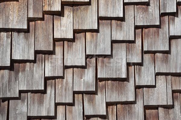 Wooden Roof Shingles Stock photo © PeterHermesFurian