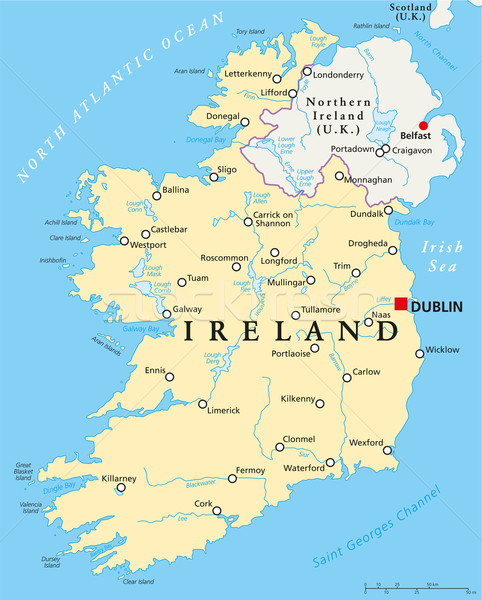 Ireland Political Map Stock photo © PeterHermesFurian