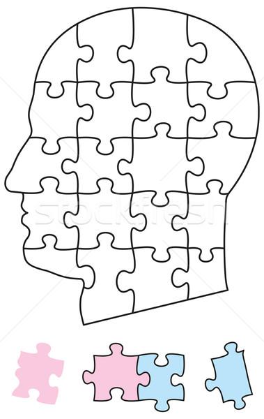 Jigsaw Puzzle Head Stock photo © PeterHermesFurian