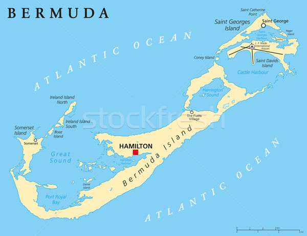 Bermuda Political Map Stock photo © PeterHermesFurian