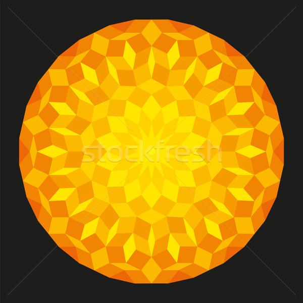 солнце шаблон черный геометрический Рисунок математика Сток-фото © PeterHermesFurian