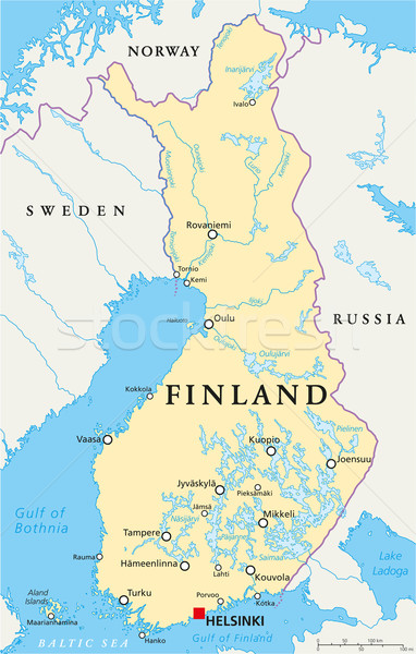 Finland Political Map Stock photo © PeterHermesFurian