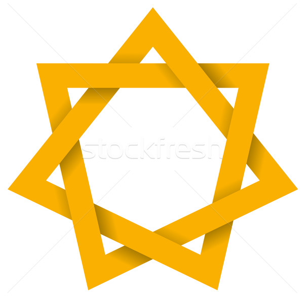 Gold Heptagram 3D Stock photo © PeterHermesFurian