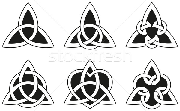 Celtic Triangle Knots Stock photo © PeterHermesFurian