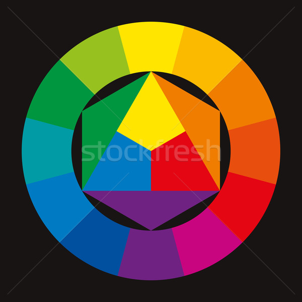 Color Wheel On Black Background Stock photo © PeterHermesFurian