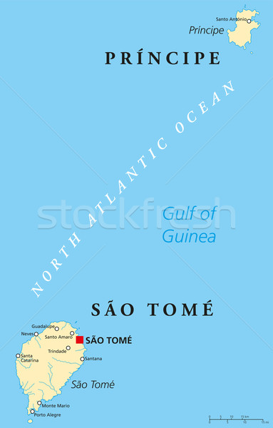 Sao Tome and Principe Political Map Stock photo © PeterHermesFurian