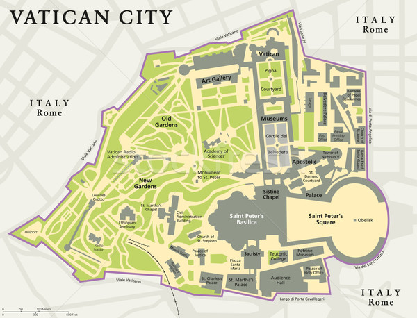 Cité du Vatican politique carte ville Rome Italie Photo stock © PeterHermesFurian