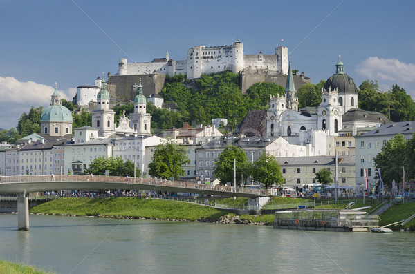 Salzburg City Historic Center Panorama Stock photo © PeterHermesFurian