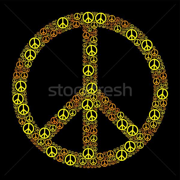 Paz assinar amarelo laranja muitos Foto stock © PeterHermesFurian