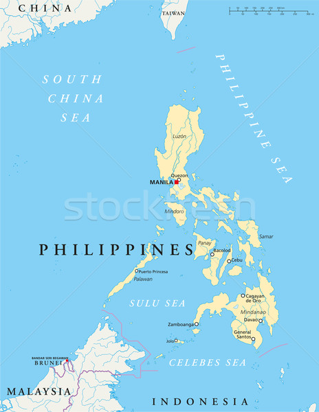 Stock photo: Philippines Political Map