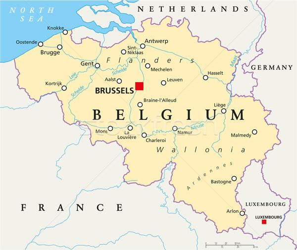 Belgium Political Map Stock photo © PeterHermesFurian