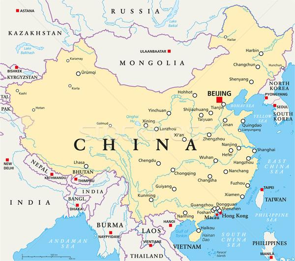 China Political Map Stock photo © PeterHermesFurian