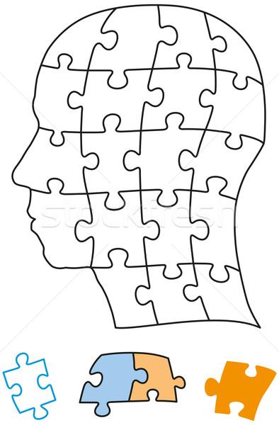 Zdjęcia stock: Głowie · puzzle · sztuk · puszka · grupy