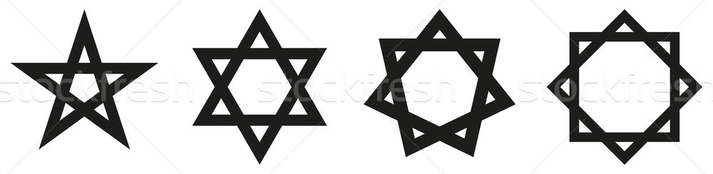 Geometric Star Figures Black Stock photo © PeterHermesFurian